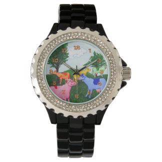 Vacas bonitas reloj