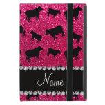 Vacas conocidas personalizadas del brillo del rosa iPad mini carcasas