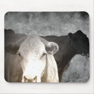 Vacas curiosas tapete de raton