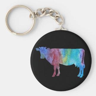 Vacas de Colorwashed Llavero Personalizado