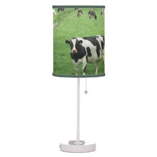 Vacas de Holstein del Frisian Lámpara De Escritorio
