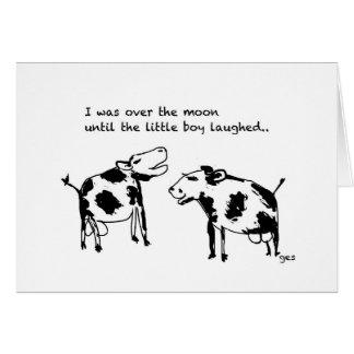 Vacas de la comedia tarjeta pequeña