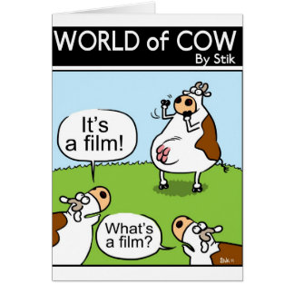 Vacas de las charadas felicitación