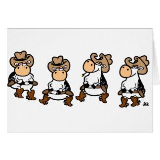Vacas de Linedancing Tarjeta De Felicitación