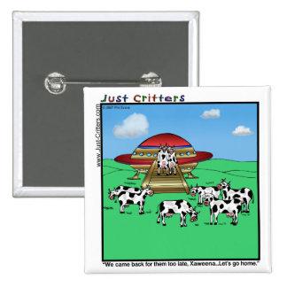 Vacas de los extranjeros pin cuadrada 5 cm