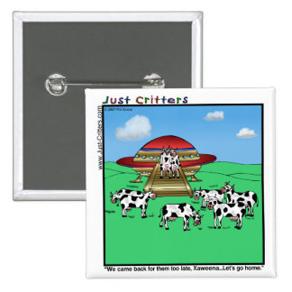 Vacas de los extranjeros pin cuadrado