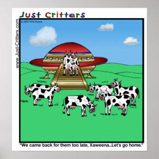 Vacas de los extranjeros póster