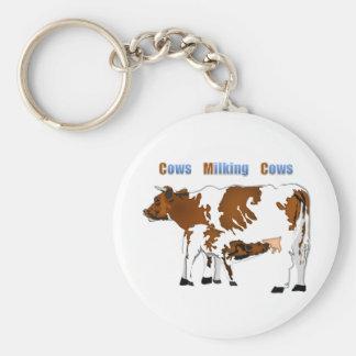 Vacas de ordeño de las vacas llavero redondo tipo pin