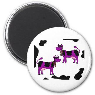 Vacas de Skinney Imán Redondo 5 Cm