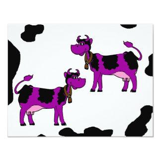 """Vacas de Skinney Invitación 4.25"""" X 5.5"""""""