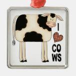 Vacas del amor de la colección I del navidad Adornos
