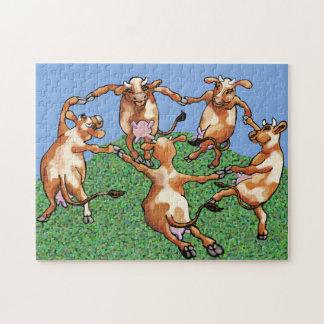 Vacas del baile por Mootisse Puzzle