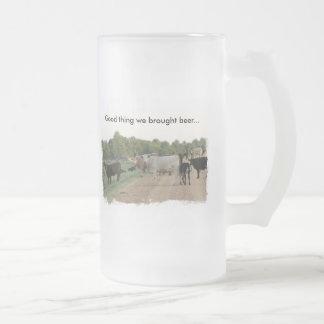 Vacas del dique de Mississippi Taza De Cristal
