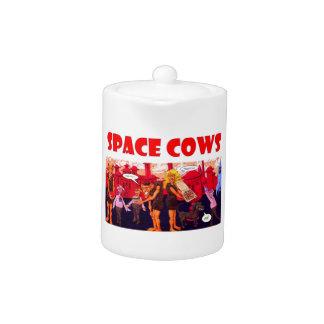 Vacas del espacio encendido con Giants vegetariano
