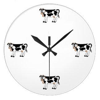 Vacas del MOO Reloj Redondo Grande