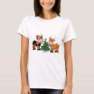 Vacas del navidad playera