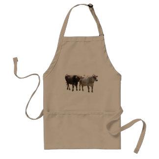Vacas del suizo de Brown Delantal