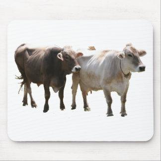 Vacas del suizo de Brown Mousepad