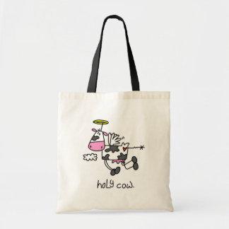 Vacas divertidas bolsa tela barata