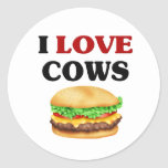 Vacas divertidas del amor de I Etiqueta Redonda