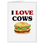Vacas divertidas del amor de I Felicitación