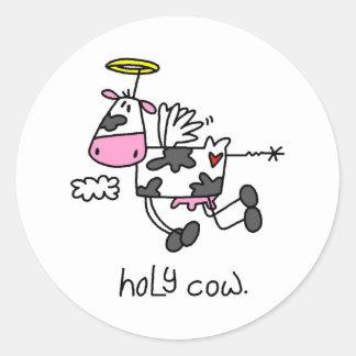 Vacas divertidas pegatina redonda