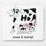 ¿Vacas él que va? Mousepad Tapetes De Raton