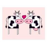 Vacas en amor postal