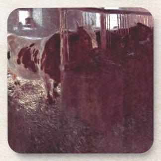 Vacas en el granero lindo