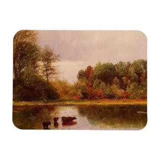 Vacas en el paisaje de riego Albert Bierstadt de A Imán