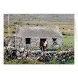 Vacas en la casa - tarjeta en blanco