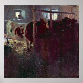 Vacas en parada de Gustavo Klimt Impresiones