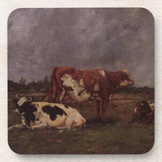 Vacas en pasto de Eugene Boudin Posavaso