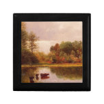 Vacas en un paisaje de riego, Albert Bierstadt Cajas De Joyas