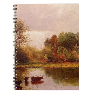 Vacas en un paisaje de riego, Albert Bierstadt Libros De Apuntes Con Espiral