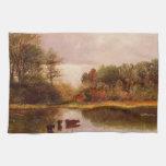 Vacas en un paisaje de riego, Albert Bierstadt Toalla De Mano