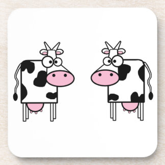 Vacas felices del dibujo animado posavasos