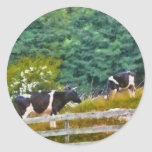 Vacas - MOO Etiquetas Redondas
