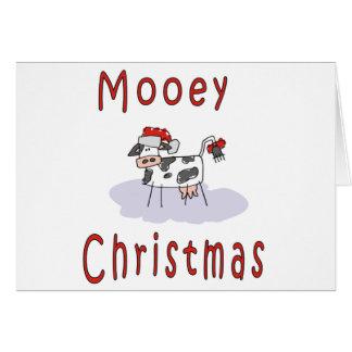 Vacas: Navidad de Mooey Tarjeta De Felicitación