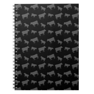 Vacas negras libretas espirales