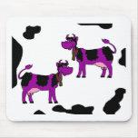 Vacas púrpuras alfombrillas de ratones
