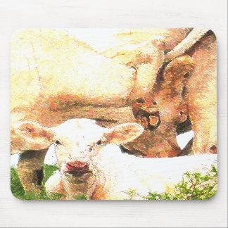 vacas tapete de ratón