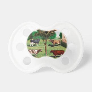 Vacas típicas chupete de bebe