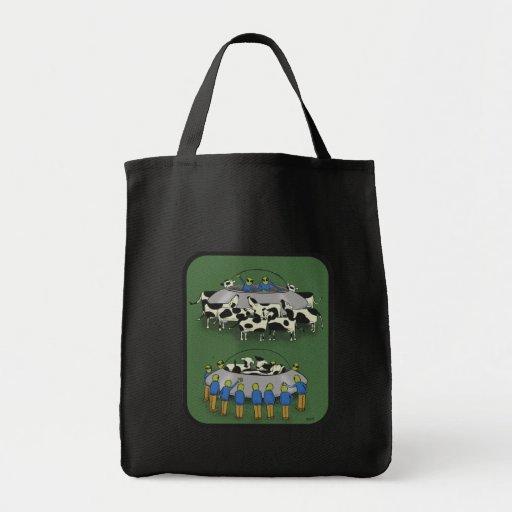 vacas y extranjeros bolsa tela para la compra