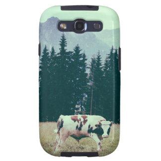 Vacas y montañas galaxy s3 cárcasas