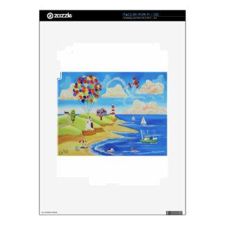Vacas y ovejas de los globos en la playa iPad 2 skin