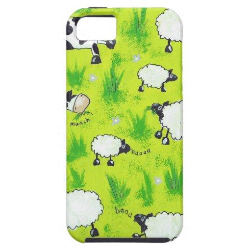 Vacas y ovejas iPhone 5 carcasa