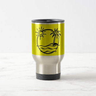vacation15_112607 TROPICAL VACATION ISLAND SKETCH 15 Oz Stainless Steel Travel Mug