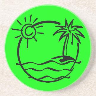 vacation15_112607 TROPICAL VACATION ISLAND SKETCH Coaster