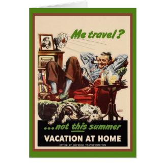 Vacation at Home Card